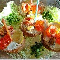 Вкусные бутербродики к Новому Году :: Лидия (naum.lidiya)