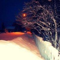 Вечер на деревенской улице :: Николай Туркин