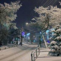 Челябинск вечерний. В первый день января морозно и снежно!..)) :: Надежда