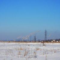 Сельско-промышленный пейзаж :: Юрий Гайворонский