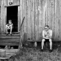 Отец и сын. Утренний диалог :: Nikolay Zinoviev