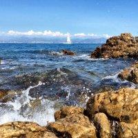 Средиземное море, город Антиб. Франция. :: Облачко *