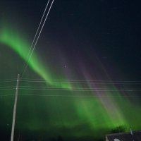 Северное сияние в Лальске :: Наталья Зимирева