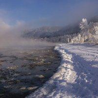 Енисей в тумане :: Дамир Белоколенко