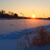Зимний закат.Тверца :: Павлова Татьяна Павлова