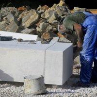 Работа  скульптора  по  мрамору.... :: Валерия  Полещикова