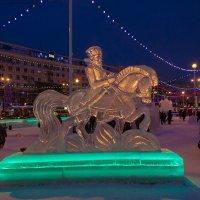 Фрагмент ледового городка на площади Революции. :: Надежда