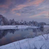 Воиново-Гора.Январь.Вечер.Иней... :: Roman Lunin