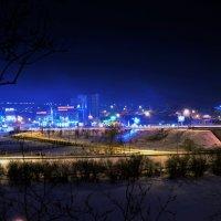 Пейзаж города холодных тонах :: Сергей Алексеев
