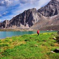 Лужайка на краю озера :: Виктор Никитин