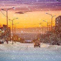 Зимний закат :: Елена Тарасевич (Бардонова)