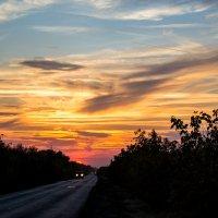 Огненный закат :: Андрей Хасаншин