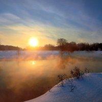 Морозный закат января... :: Андрей Войцехов