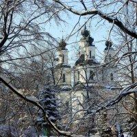 Пятикупольный старинный храм. :: Валентина ツ ღ✿ღ