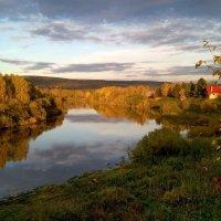Осень на Чусовой. :: Пётр Сесекин