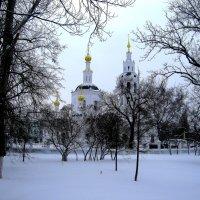 Зимний пейзаж с Богоявленской церковью. :: Борис Митрохин