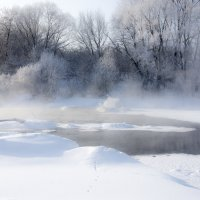 мороз над рекой :: Андрей Студеникин