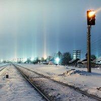 Световые столбы :: Дмитрий Стёпин