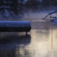 Незамерзающий Иж на закате январского дня :: Владимир Максимов