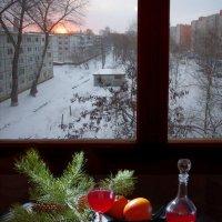 Натюрморт с хурмой и окном :: Дубовцев Евгений
