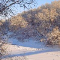 Спит тихо речка подо льдом своим красивым зимним сном... :: Елена Ярова