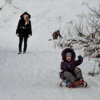 Катание с горы :: Дмитрий Коноплев