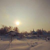 Усть-Вымь. Январское солнце. :: Николай Туркин