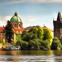 вид с воды (Карлов мост,Прага) :: Владимир Беляев ( GusLjar )