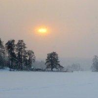 снегопад,преломлённое солнце :: Елена