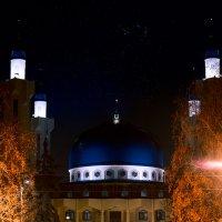 Ночь, Соборная Мечеть Майкопа :: Nikita Matrosov