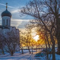 храм Покрова на закате :: Сергей Цветков