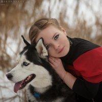 девушка и собака :: Ярослава Бакуняева
