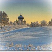 На окраине деревни.Морозно :: Лидия (naum.lidiya)
