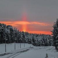 Солнечный столб :: Андрей Поляков