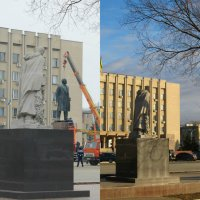 Измаил,Украина. Демонтаж памятника Ленину. Утро и вечер-один день,а сменилась целая эпоха :: Жанна Романова