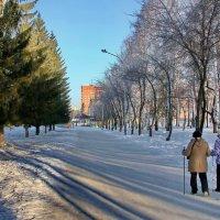 Утренняя оздоровительная прогулка в ЦПКиО. :: Пётр Сесекин