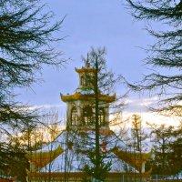 пагода в китайской деревне :: Елена
