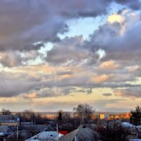 А у неба вселенский размах. И облака седые. :: Валентина ツ ღ✿ღ