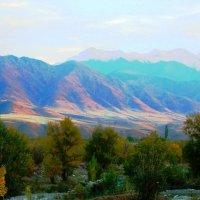 Закат раскрасил горы....волшебным светом :: Александра Полякова-Костова
