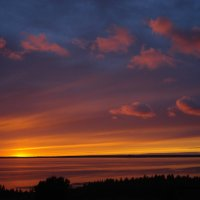 Закат на Чухломском озере. :: Елена Майорова