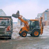 Зима в городе. Техника. :: Elena Izotova