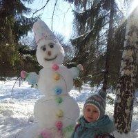 Высокий снеговик. 1марта 2016 :: Мария Владимирова
