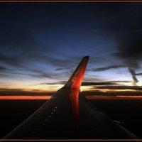 Закат в небе над Чикаго :: Яков Геллер