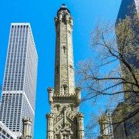 Chicago Water Tower (1869) - 40-м водонапорная башня из известняка :: Юрий Поляков