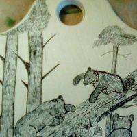 """Моя графика. """"Мишки в лесу"""" ( по мотивам картин И. Шишкина) :: Светлана Калмыкова"""