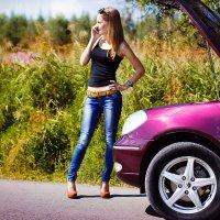 блондинка и авто :: Ирина Насадюк