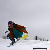 Сноубордистка... :: Михаил Поскотинов