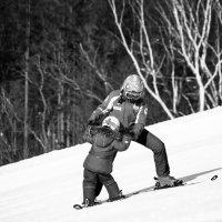 Впервые на лыжах :: Evgeniia Pershina