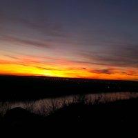 Закат над рекой Белой :: Сергей Тагиров