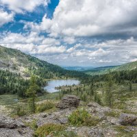 Вид на 4-е Каракольское озеро :: Sergey Miroshnichenko